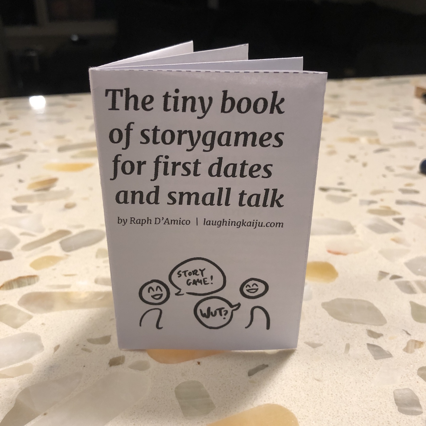 The tiny book of first date storygames